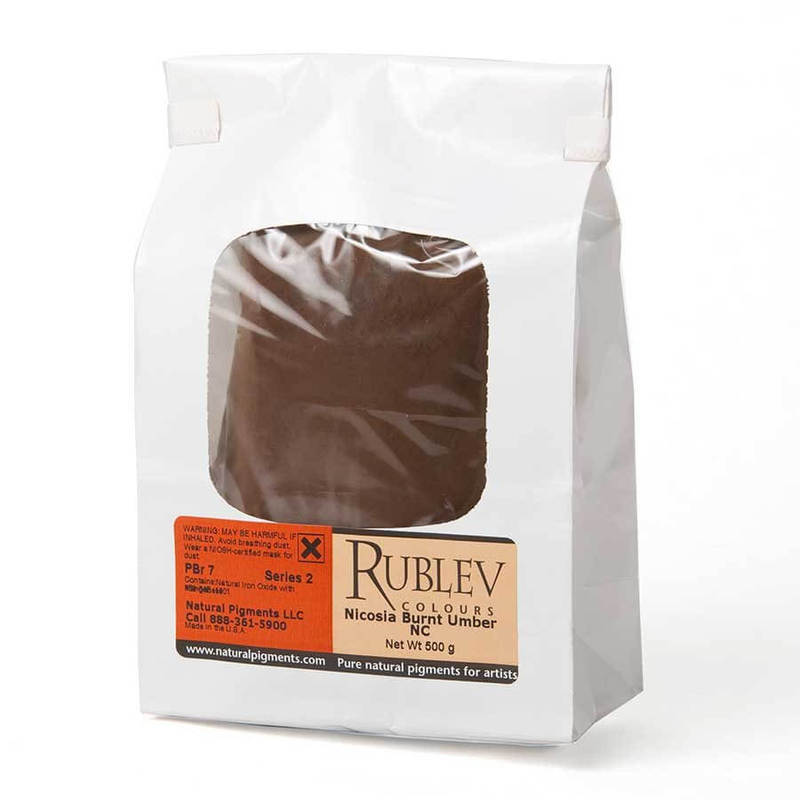 Rublev Colours Nicosia Burnt Umber NC 1 kg - Color: Brown