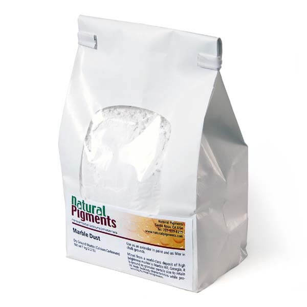 Rublev Colours Natural Pigments Carrara White Marble Dust (Medium Grade) 1 kg