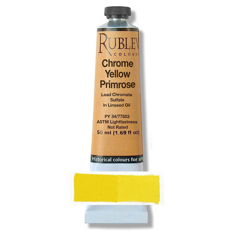 Natural Pigments Rublev Colours Chrome Yellow Light 150 ml