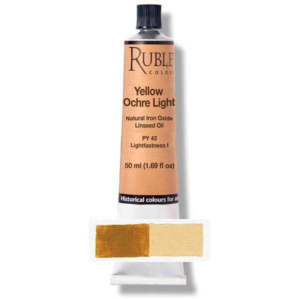 Rublev Colours Yellow Ocher Light 50 ml - Color: Yellow