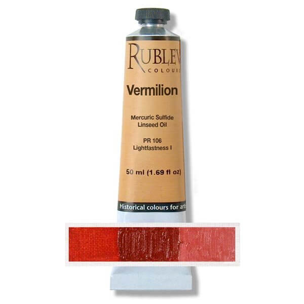 Rublev Colours Rublev Colours Vermilion 50 ml - Color: Red