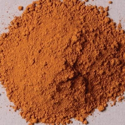 Natural Pigments Rublev Colours Italian Raw Sienna 100 g - Color: Brown