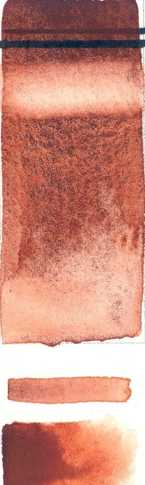 Rublev Colours French Burnt Sienna (Half Pan) - Color: Reddish Brown