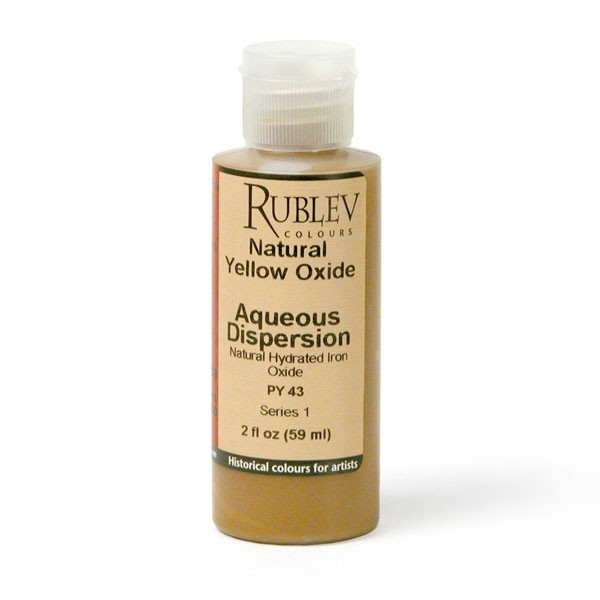Natural Pigments Rublev Colours Natural Yellow Oxide 2 fl oz - Color: Yellow