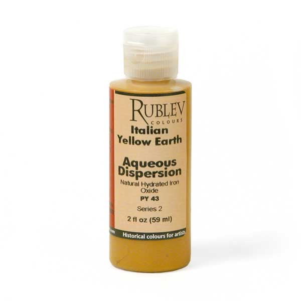 Natural Pigments Rublev Colours Italian Yellow Earth 2 fl oz - Color: Yellow