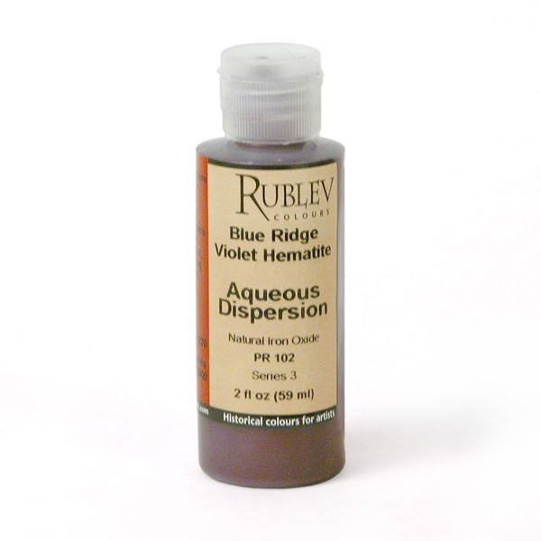 Rublev Colours Blue Ridge Violet Hematite 2 fl oz - Color: Red