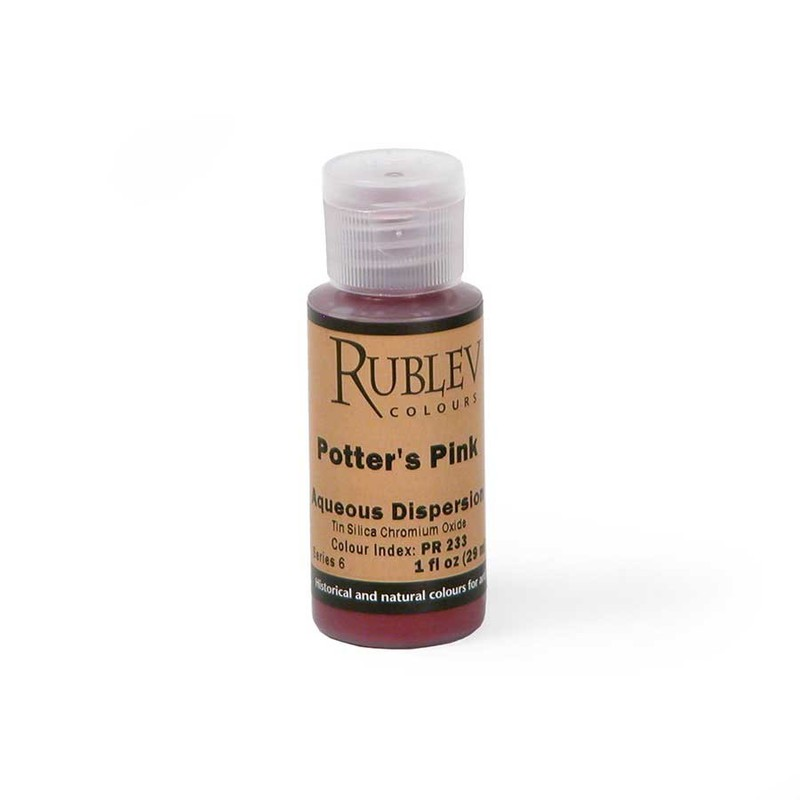Natural Pigments Rublev Colours Potters Pink 1 fl oz - Color: Pink