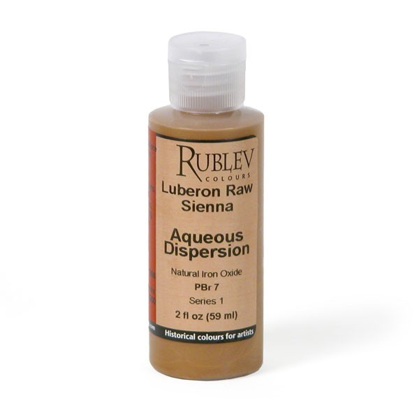 Natural Pigments Rublev Colours Italian Raw Sienna 2 fl oz - Color: Brown