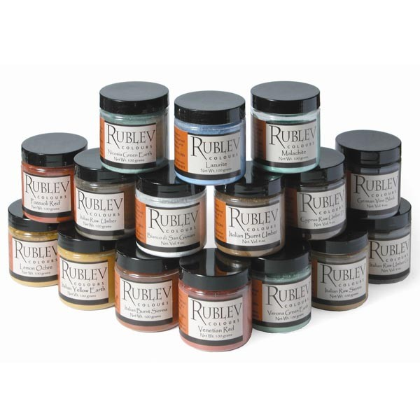 Natural Pigments Historical Fresco Pigment Set