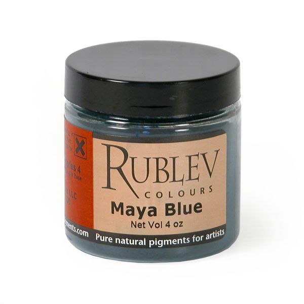 Natural Pigments Rublev Colours Maya Blue (4 oz vol) - Color: Blue