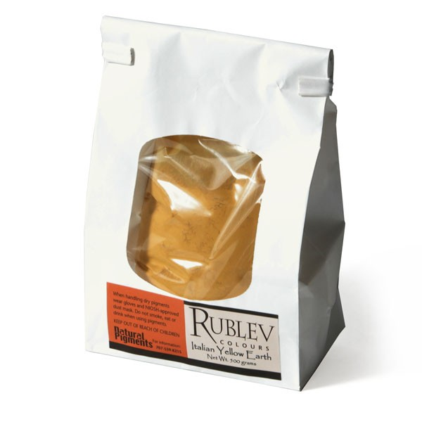 Rublev Colours Italian Natural Pigments Italian Yellow Earth 500 g - Color: Yellow