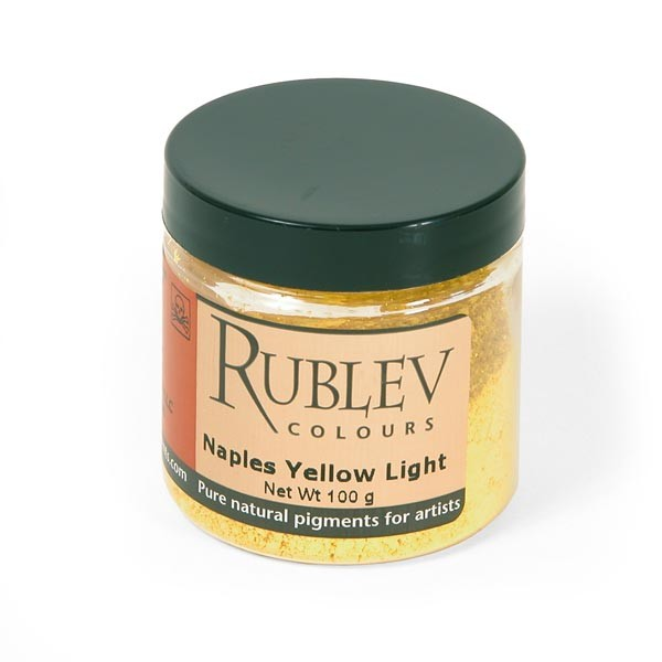 Natural Pigments Rublev Colours Naples Yellow Light 100 g - Color: Yellow