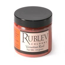 Natural Pigments Rublev Colours Venetian Red 100 g