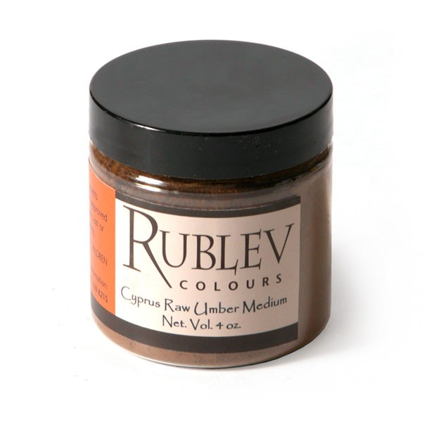 Natural Pigments Rublev Colours Cyprus Raw Umber Medium (4 oz vol) - Color: Brown