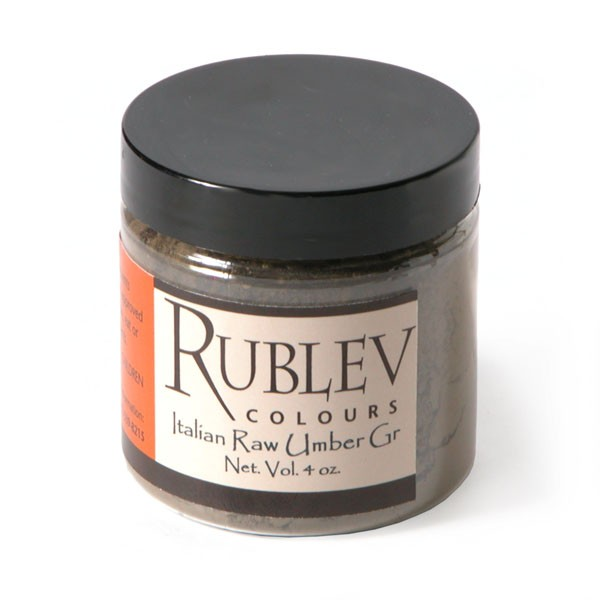 Rublev Colours Italian Green Raw Umber 100 g - Color: Brown