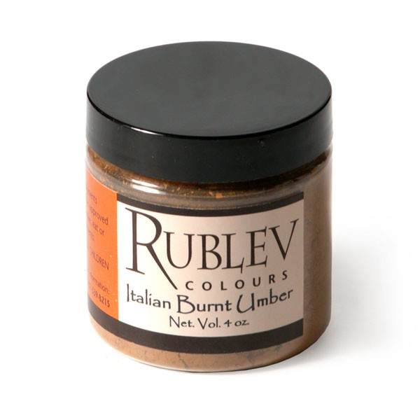 Natural Pigments Rublev Colours Italian Burnt Umber 100 g - Color: Brown