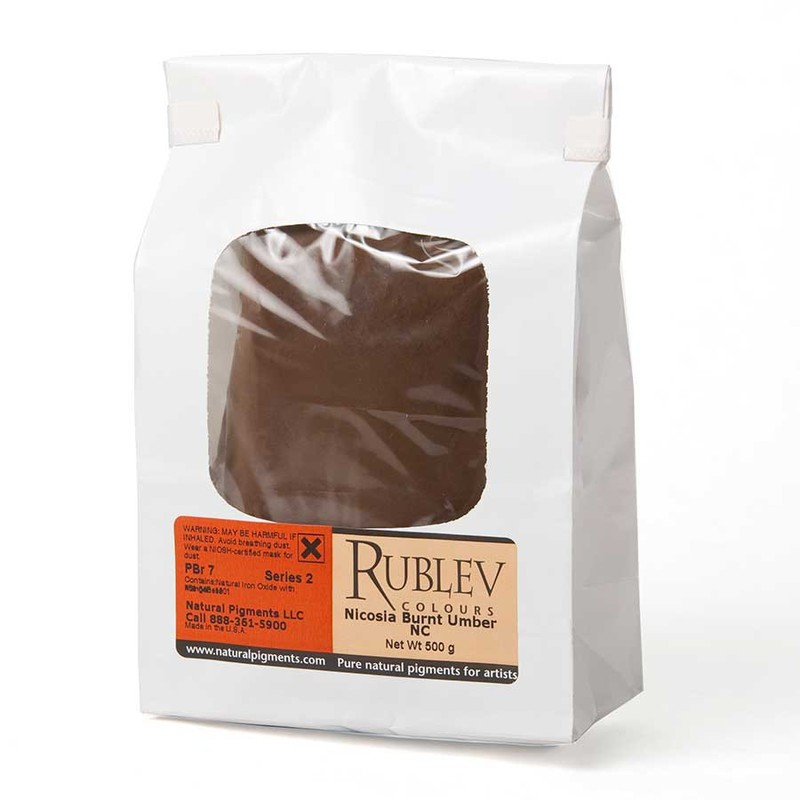 Rublev Colours Nicosia Burnt Umber NC 500 g - Color: Brown