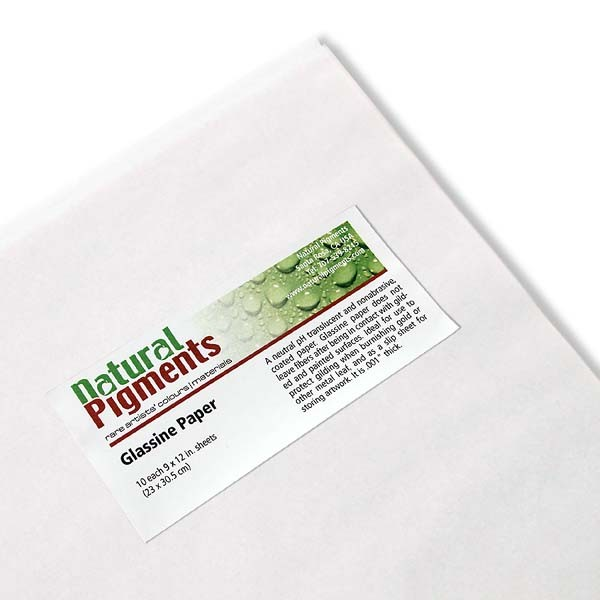 Natural Pigments Glassine Paper (9 x 11 3/4 Inch Sheets)