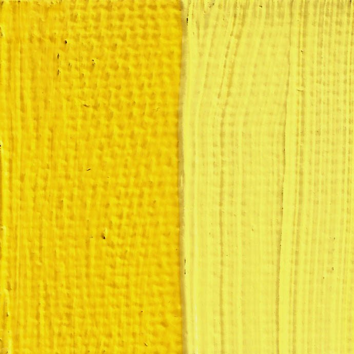 Rublev Colours Naples Yellow (Lead Antimonate) Oil Paint Swatch