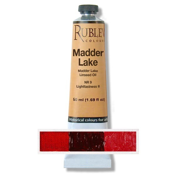 Natural Pigments Rublev Colours Alizarin Crimson 130 ml - Color: Bluish Red
