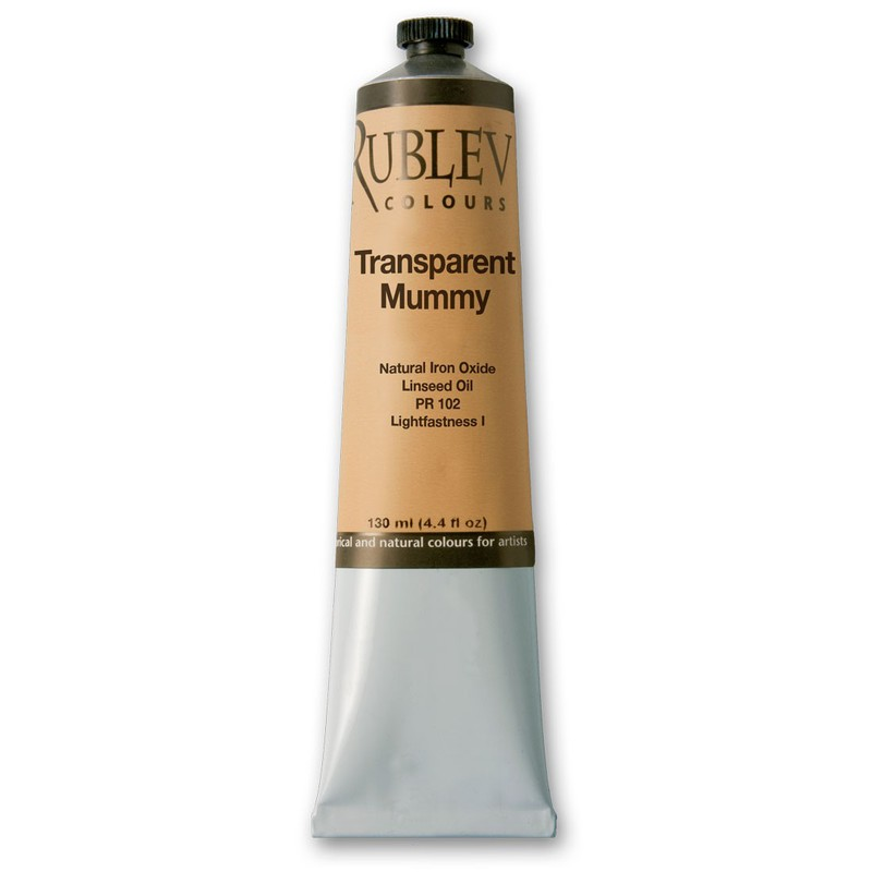 Rublev Colours Transparent Mummy Artist Oil (130 ml)