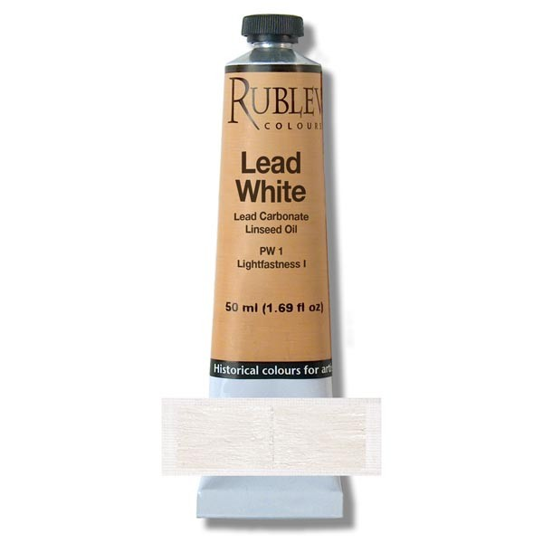 Rublev Colours Lead White Artists Oil (130 ml)
