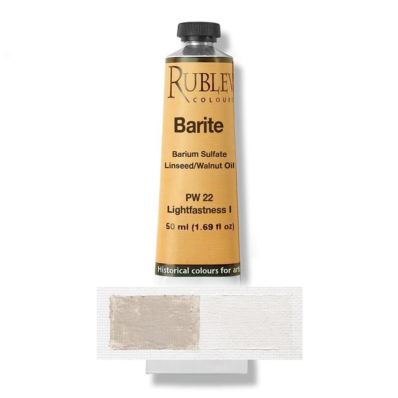 Rublev Colours Barite (Baryte) 50 ml - Color: Buff