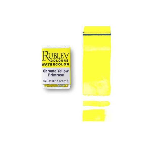 Rublev Colours Chrome Yellow Primrose (Full Pan) - Color: Yellow