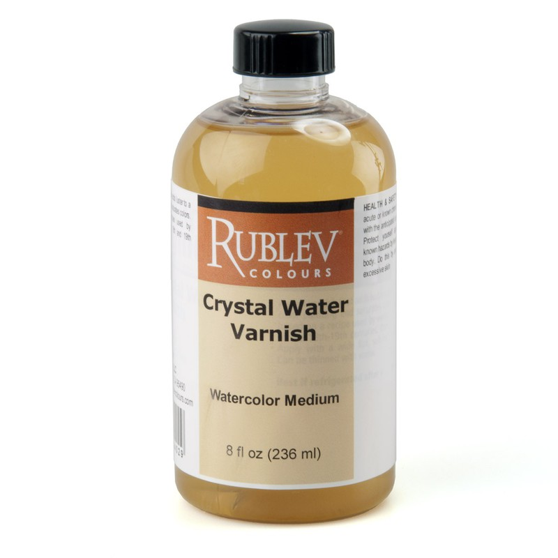Rublev Colours Crystal Water Varnish 8 fl oz