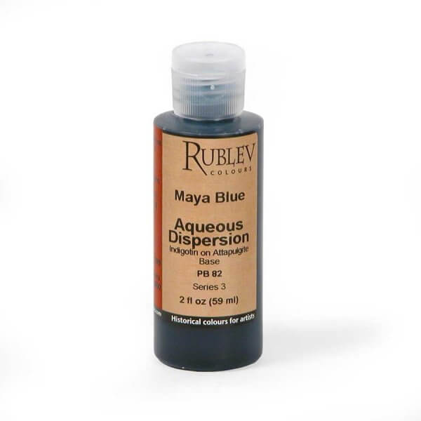 Natural Pigments Rublev Colours Maya Blue 2 fl oz - Color: Blue