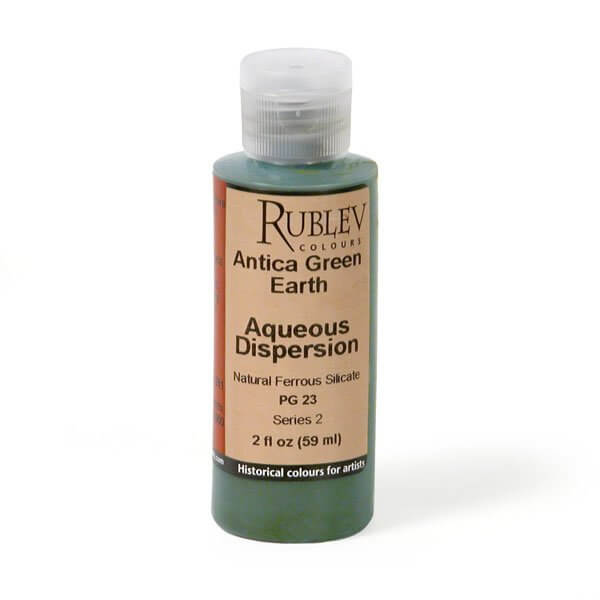 Rublev Colours Antica (Prun) Green Earth 2 fl oz - Color: Green