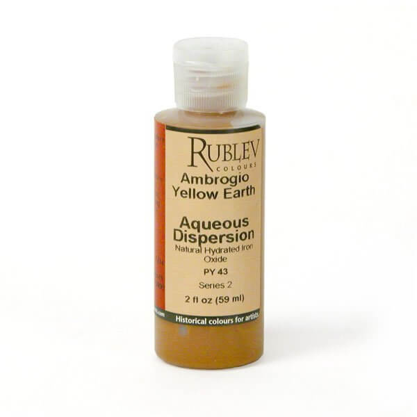 Natural Pigments Rublev Colours Ambrogio Yellow Earth 2 fl oz - Color: Yellow