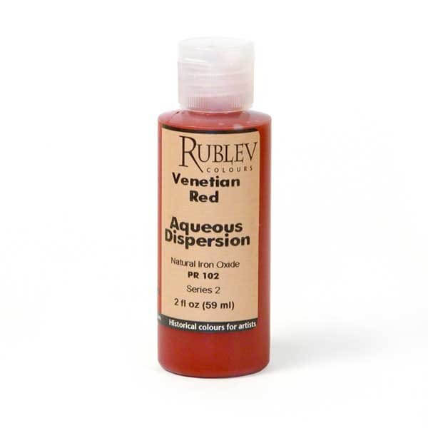 Natural Pigments Rublev Colours Venetian Red 2 fl oz - Color: Red