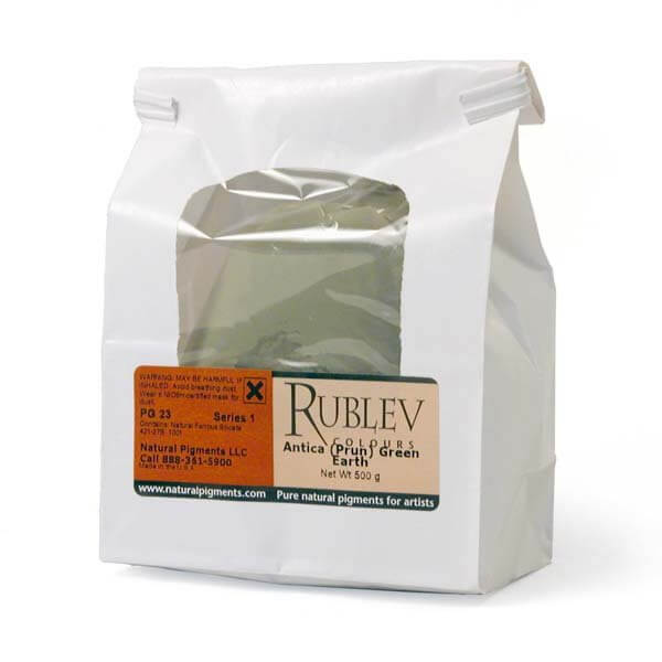 Rublev Colours Antica (Prun) Green Earth 1 kg - Color: Green