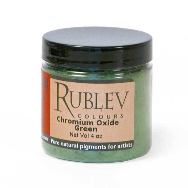 Natural Pigments Chromium Green 4 oz vol