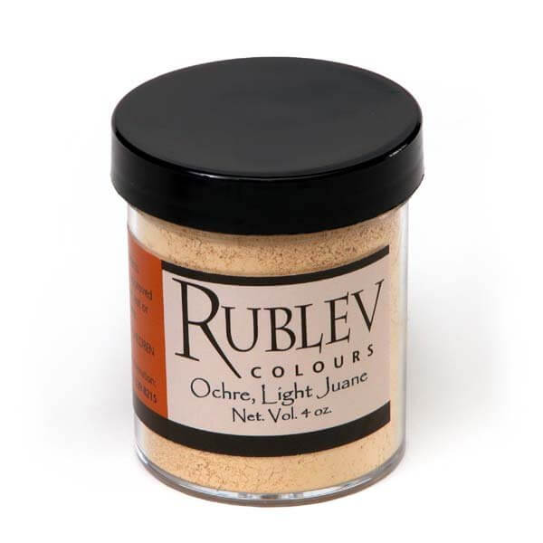 Rublev Colours Natural Pigments Yellow Ocher Light (4 oz vol) - Color: Yellow