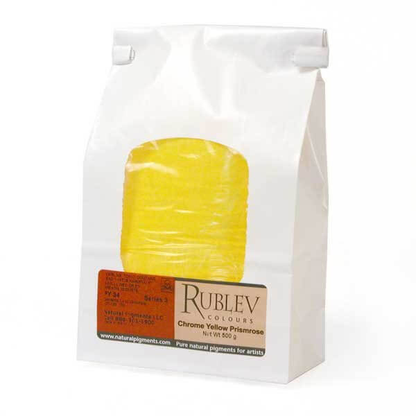 Rublev Colours Natural Pigments Chrome Yellow Primrose 500 g - Color: Yellow