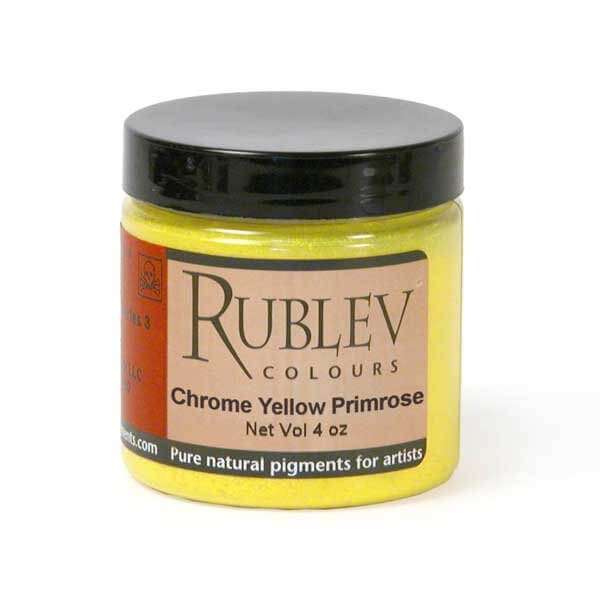 Natural Pigments Natural Pigments Chrome Yellow Primrose (4 oz vol) - Color: Yellow