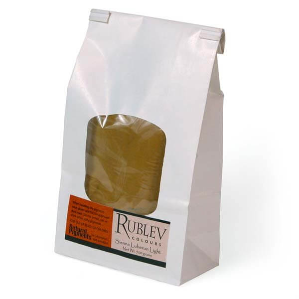 Rublev Colours Luberon Raw Sienna Light 5 kg - Color: Brown
