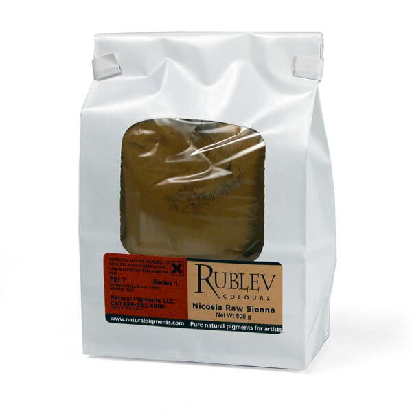 Rublev Colours Nicosia Raw Sienna 1 kg - Color: Brown