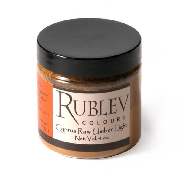 Natural Pigments Rublev Colours Cyprus Raw Umber Light (4 oz vol) - Color: Brown