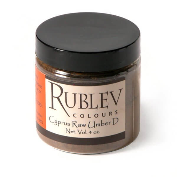 Rublev Colours Rublev Colours Cyprus Raw Umber Dark (4 oz vol) - Color: Brown