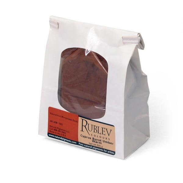 Natural Pigments Rublev Colours Cyprus Burnt Umber Warm 1 kg - Color: Brown