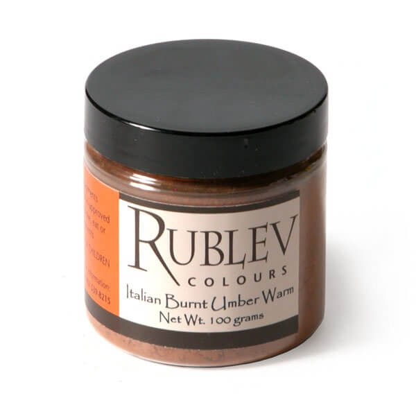 Natural Pigments Rublev Colours Italian Burnt Umber Warm 100 g - Color: Brown