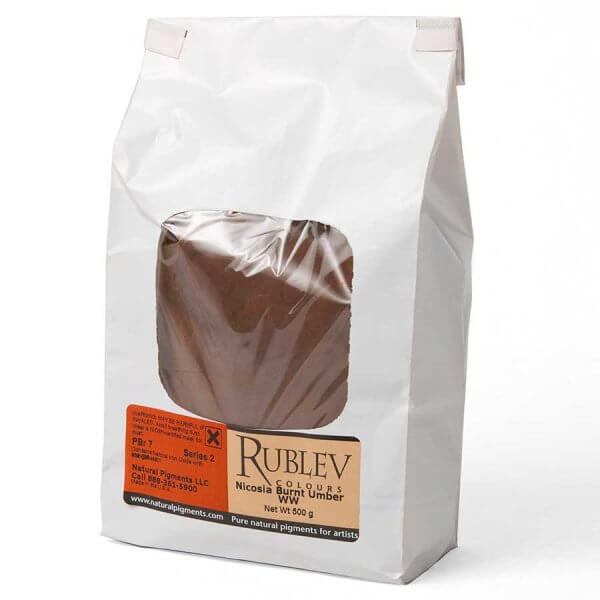Rublev Colours Nicosia Burnt Umber WW 5 kg - Color: Brown