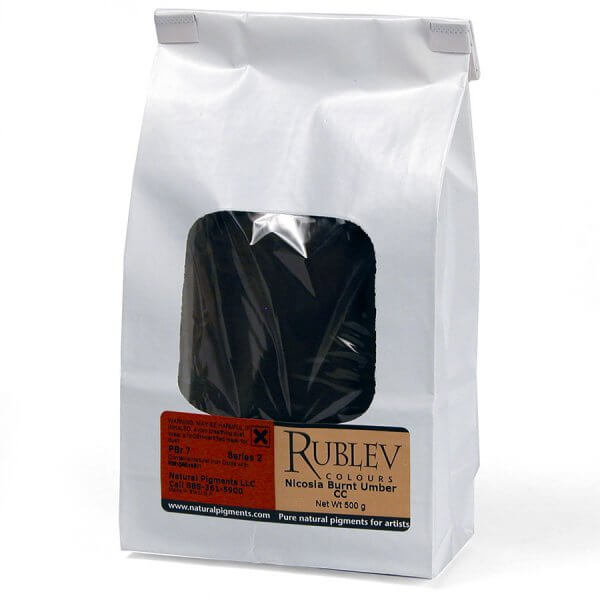 Rublev Colours Rublev Colours Nicosia Burnt Umber CC 1 kg - Color: Brown