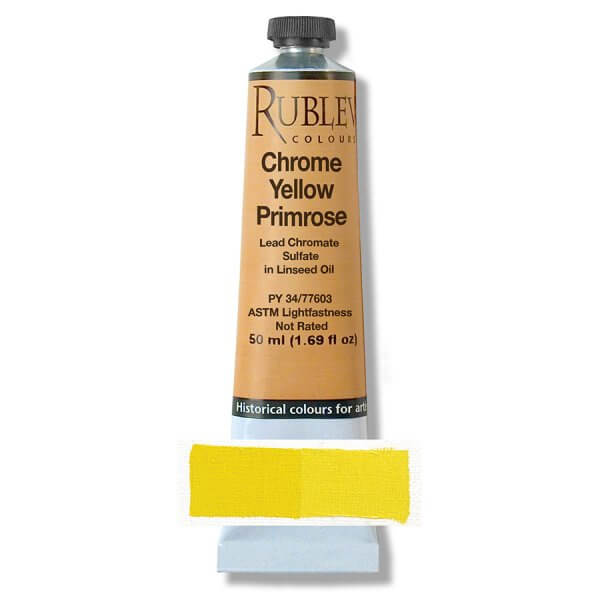 Rublev Colours Rublev Colours Chrome Yellow Light 50 ml
