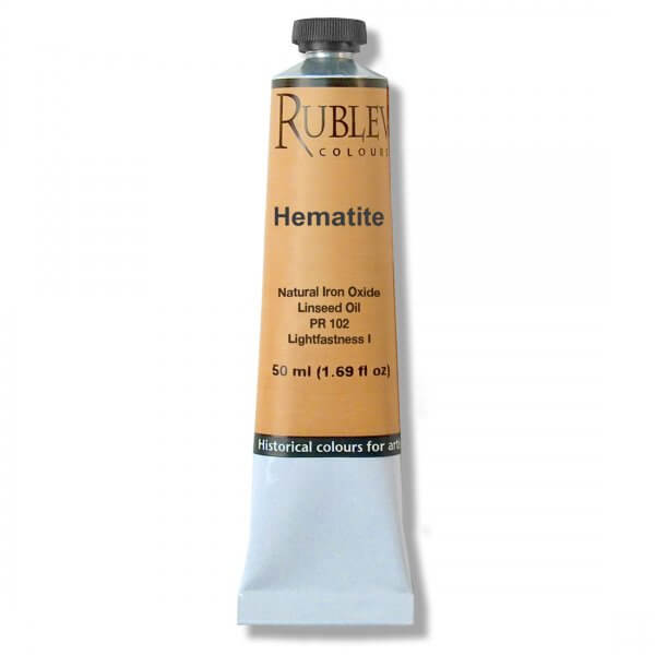 Rublev Colours Hematite 50 ml - Color: Red