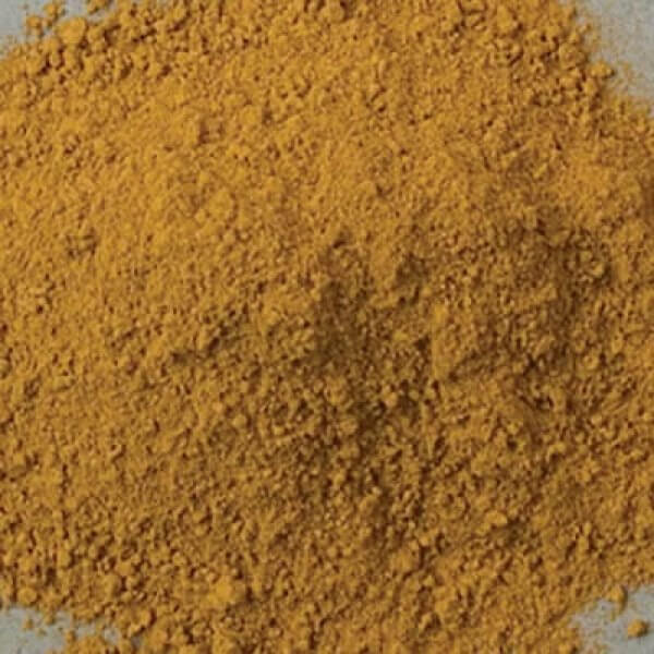 Natural Pigments Rublev Colours Ambrogio Yellow Earth 500 g - Color: Yellow