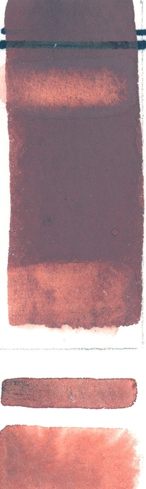 Natural Pigments Rublev Colours Indian Red (Half Pan) - Color: Red